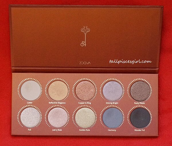 All 10 colors in ZOEVA Rose Golden Palette