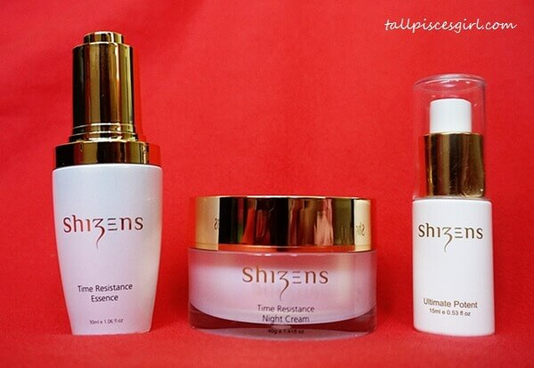 Shizens Time Resistance Essence, Time Resistance Night Cream, Ultimate Potent