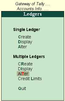 Image result for alter multiple ledger in tally