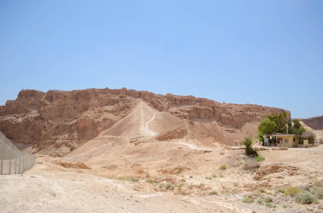 The fortress of Masada, Herod's royal citadel and later the last outpost of Zealots during the Jewish Revolt.