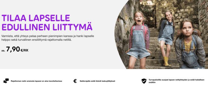 liittymä lapselle mobiili, edullinen mobiililiittymä nuorille Telialta