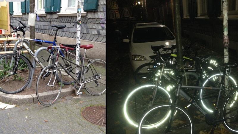 Glühweinverkauf für Fahrradständer in der Luisenstraße