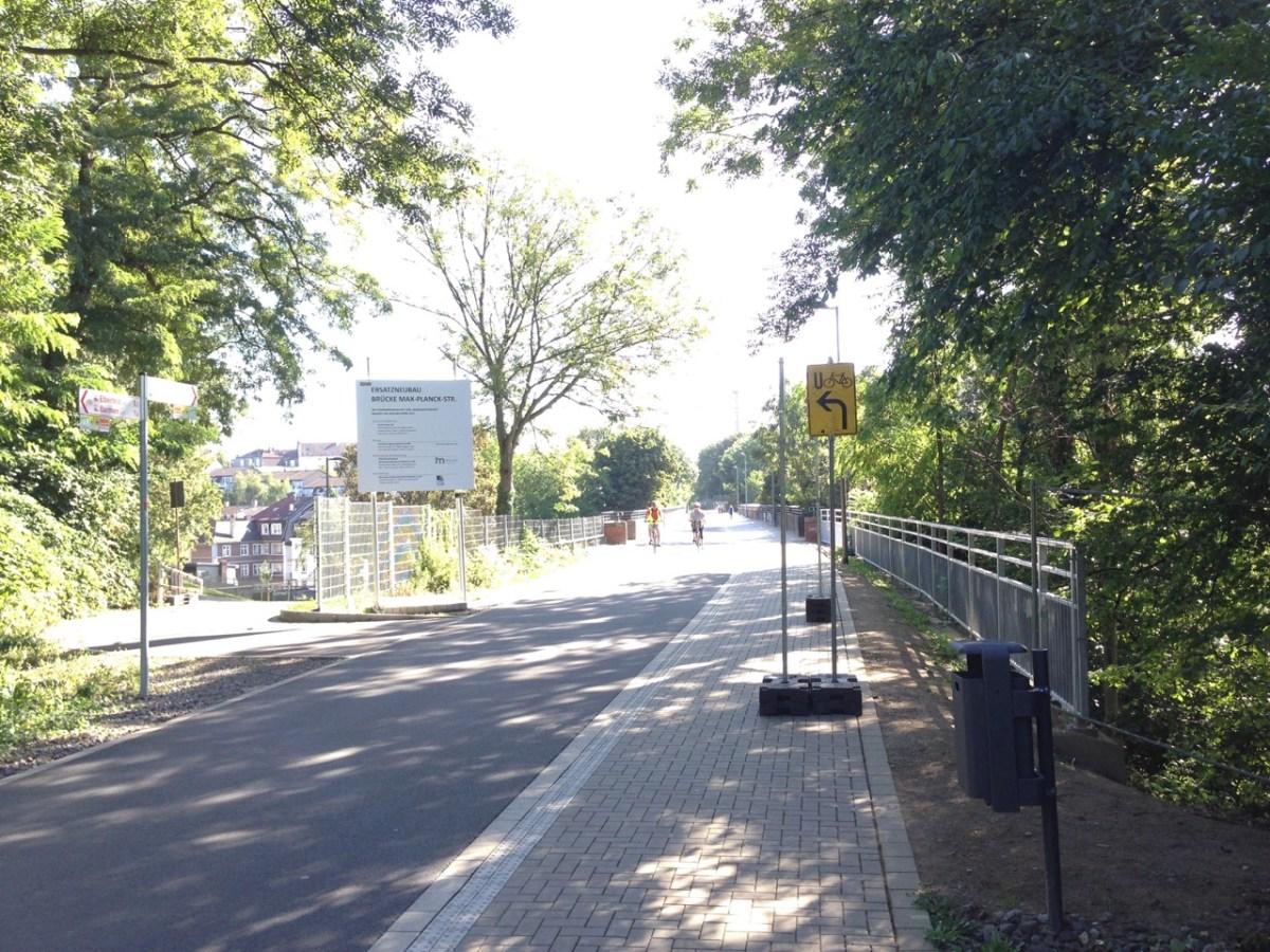 Max-Planck-Straße: Beschilderung wird nachgebessert
