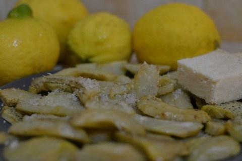 ארטישוק צרוב בשמן זית לימון ופרמז'ן