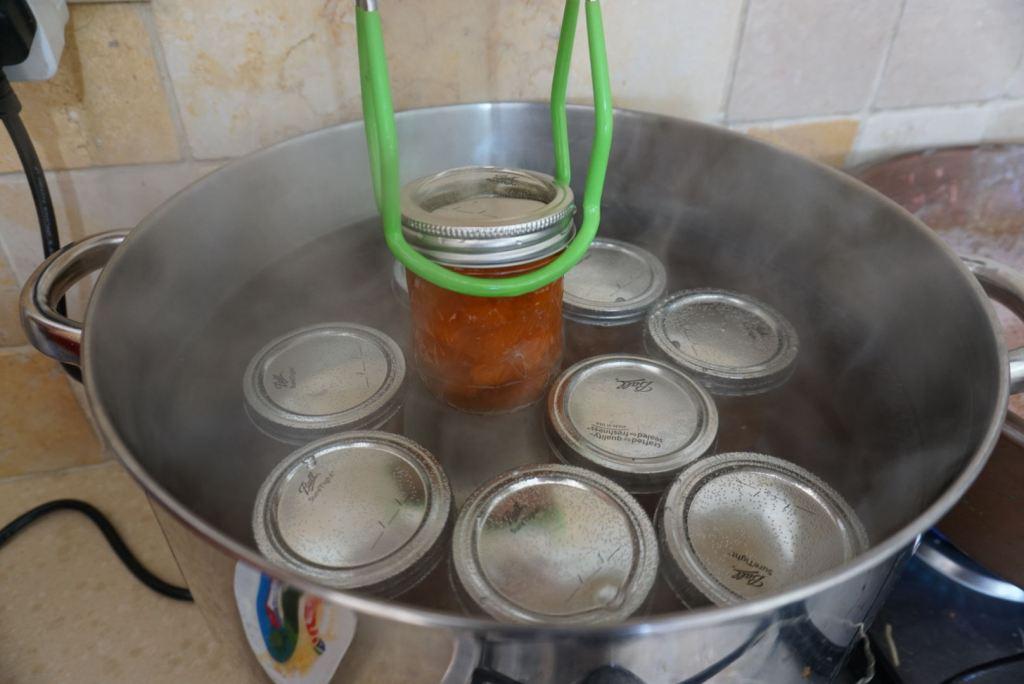 עיקור צנצנות לריבת משמש
