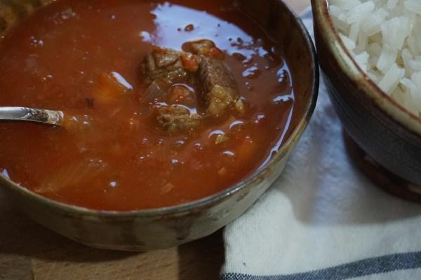 מרק שעועית עם בשר