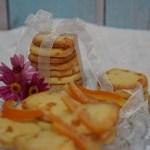עוגיות חמאה עם קליפות תפוזים מסוכרות