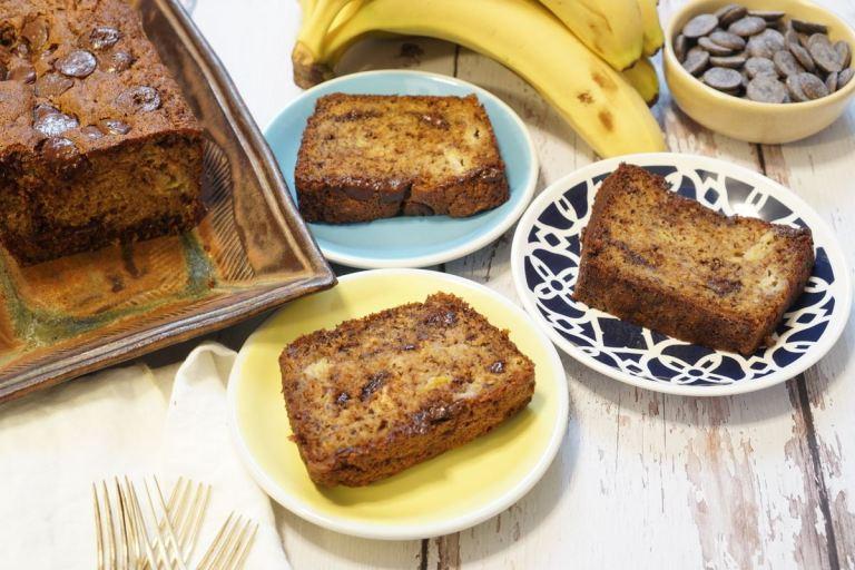 עוגת בננות ושוקולד עסיסית