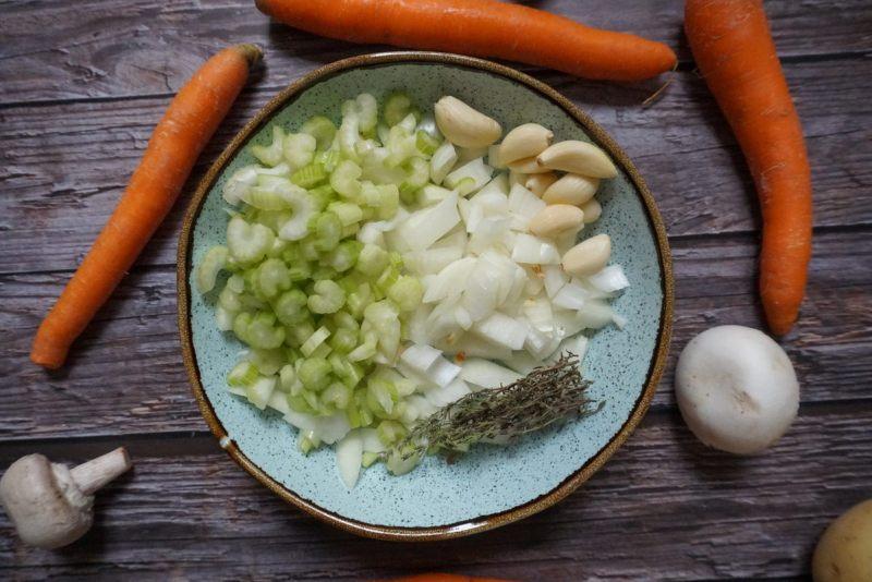 ירקות לצלי בקר