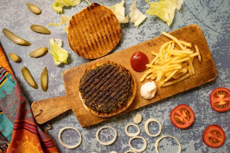 המבורגר פטריות צמחוני