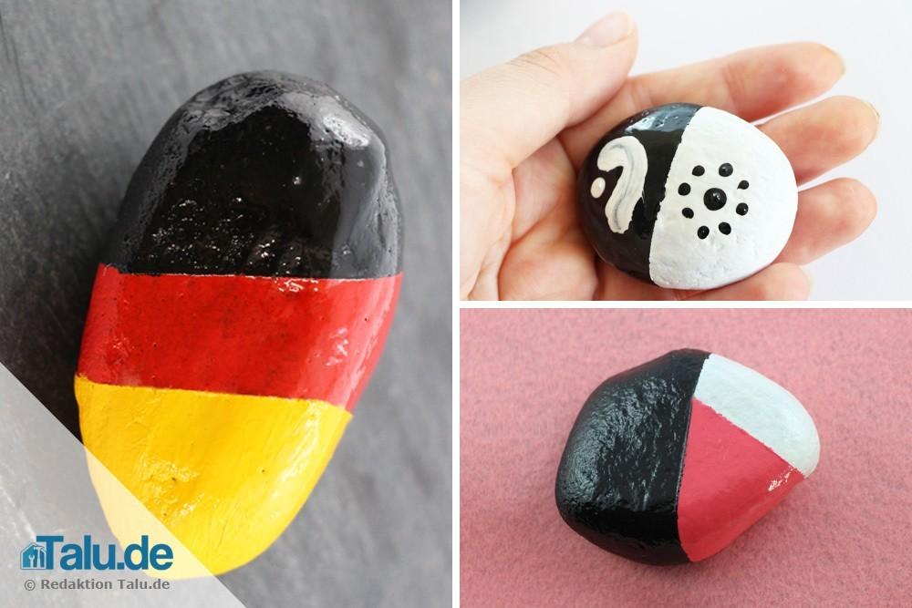 Steine Bemalen 50 Ideen Malvorlagen Einfache Motive Und Muster