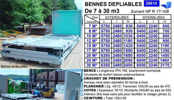 Bennes Dpliables De 7 30 M3 TAM Benne Bennes