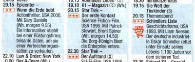 Schindlers Liste als Highlight des Abends im Fernsenen, ein Tipp von Einkauf Aktuell