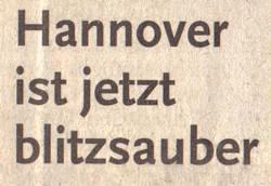 Hannover ist jetzt blitzsauber