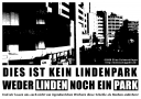 Flyer: Dies ist kein Lindenpark! Weder Linden, noch ein Park!