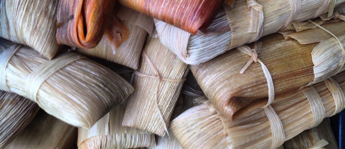 9 Mexican vegetarian (cheese and chilli) tamales
