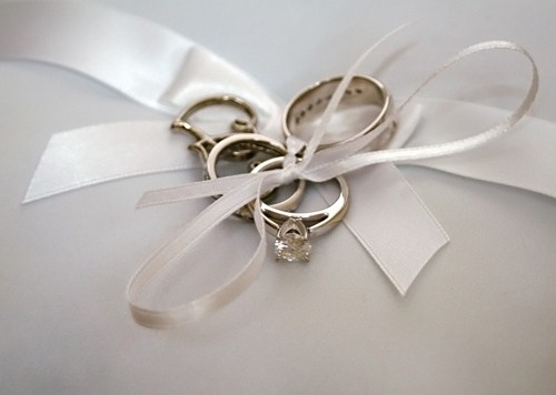 wedding picture of the rings