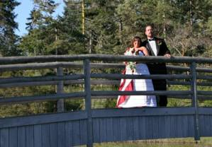 Traci and Steve at Whidbey Island Wedding