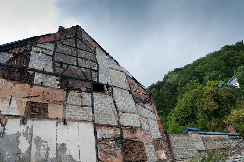 Vervallen gebouw La-Roche-en-Ardenne België
