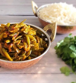 Green Bean Curry with Coconut Milk