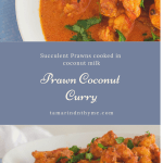 Easy Prawn Curry cooked in a creany cocount sauce