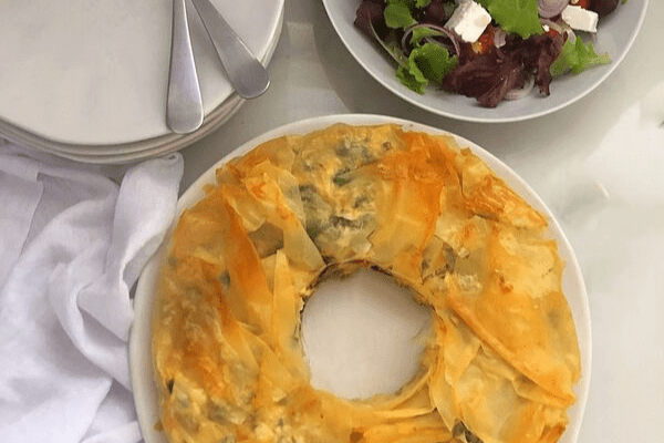 Spinach, Feta and Ricotta in Phyllo