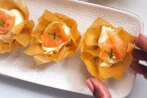 Cream Cheese and Salmon in Phyllo