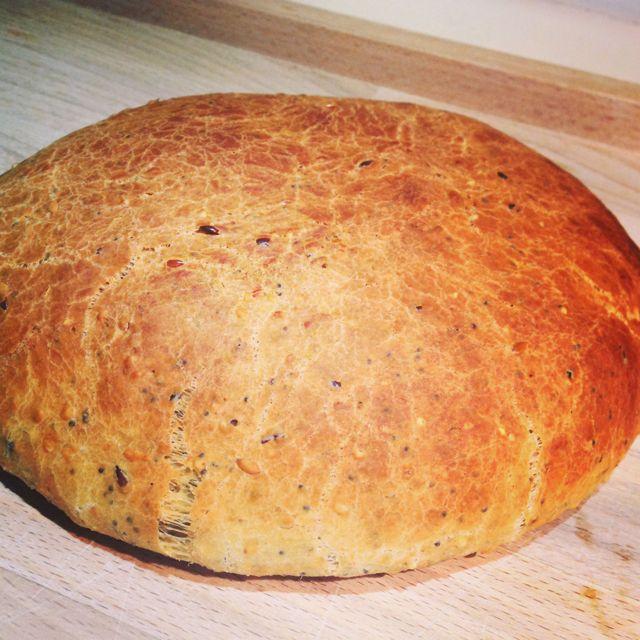 pain aux graines et à l'huile d'olive
