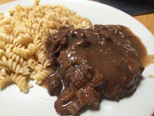 Seitan sauce Gravy aux champignons