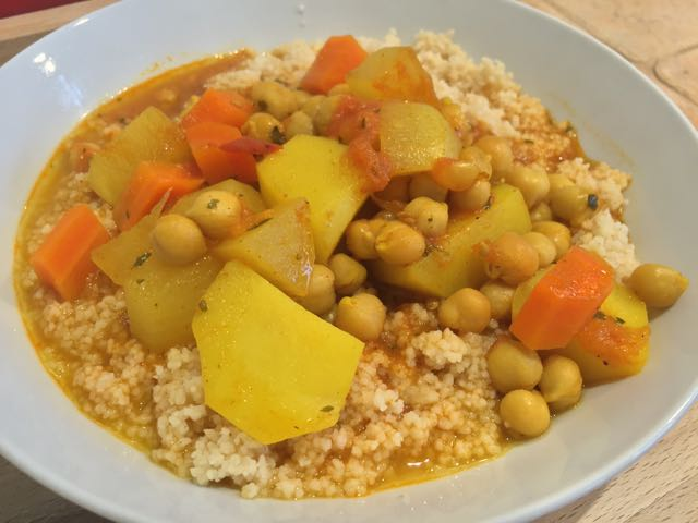 Couscous à l'indienne