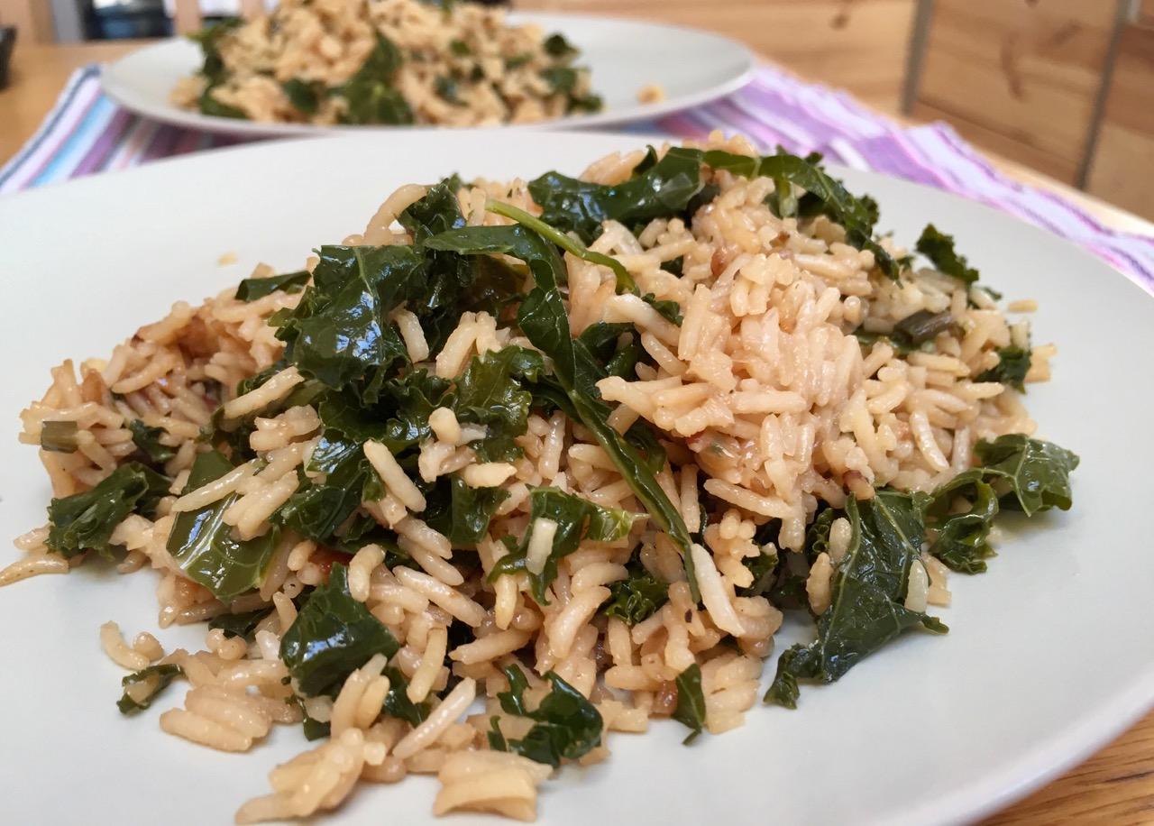 Riz au Kale (Rice Cooker)