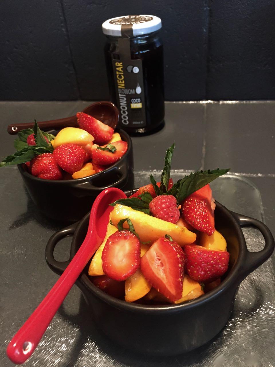 Salade de fruits au nectar de Coco