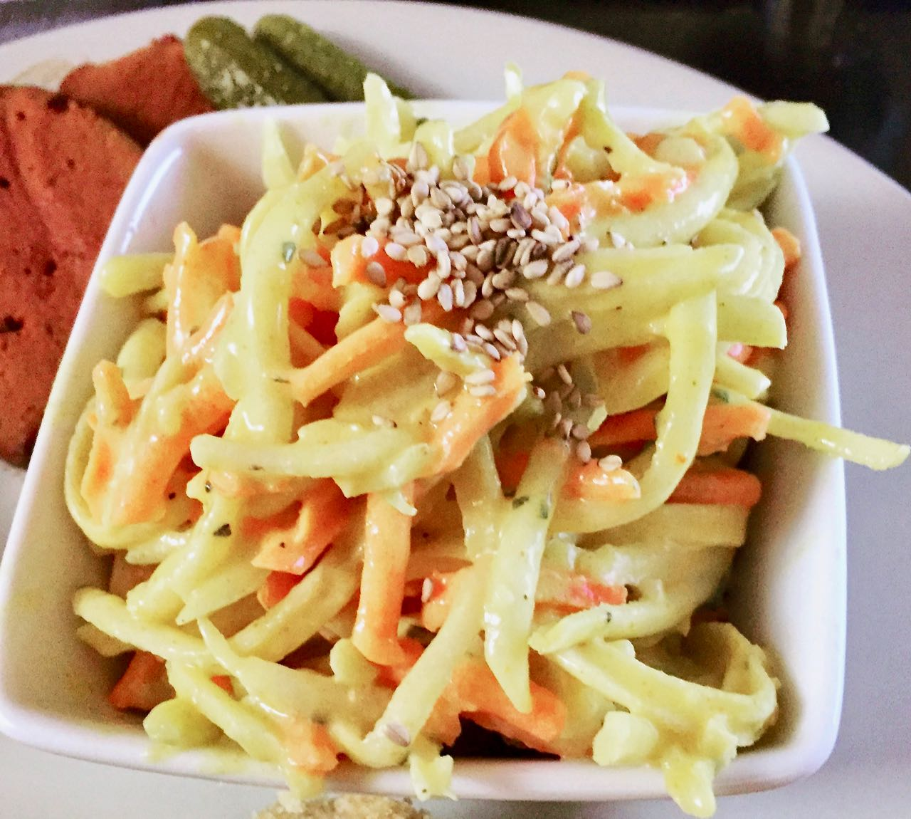 Chou Rave rémoulade au Curry