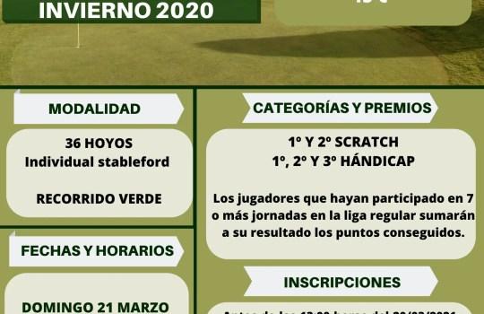 Torneo Final Liga Invierno 2020 Tambre Golf