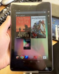 Google Nexus 7 in plastic
