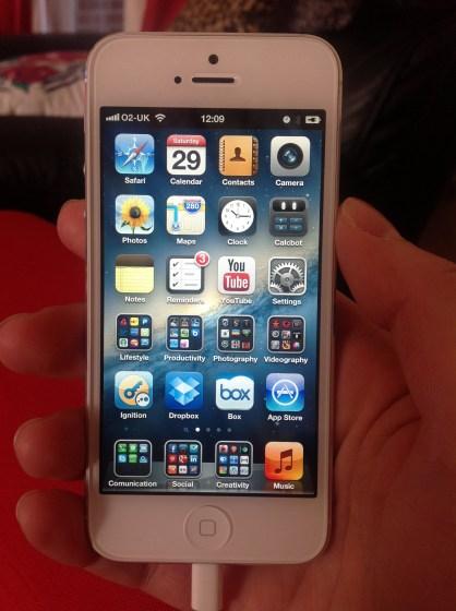 iPhone 5 White Screen