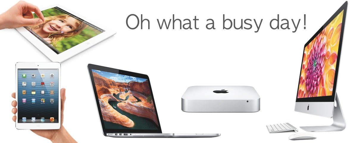 New iPad, New iPad Mini, New Mac Mini, New MacBook Pro Retina