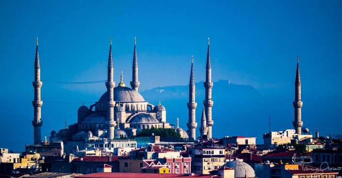 Istanbul - Blue Mosque fr Galata Tower