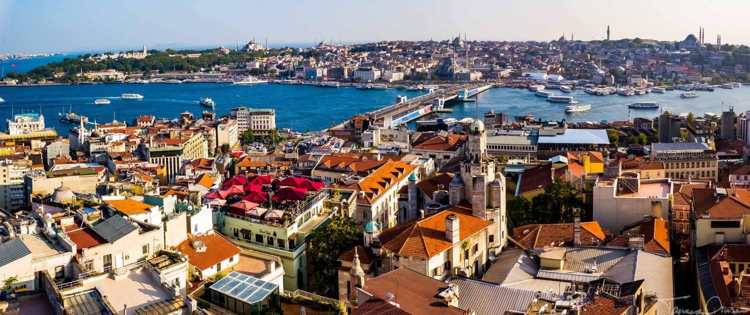 Istanbul - Panorama fr Galata Tower Golden Horn