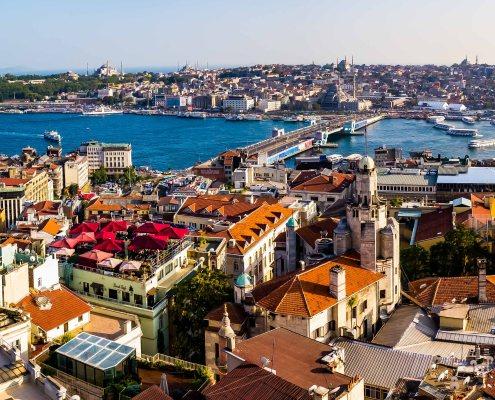 Istanbul - Panorama fr Galata Tower Golden Horn