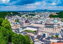 Salzburg - Riverside view from Hohensalzburg
