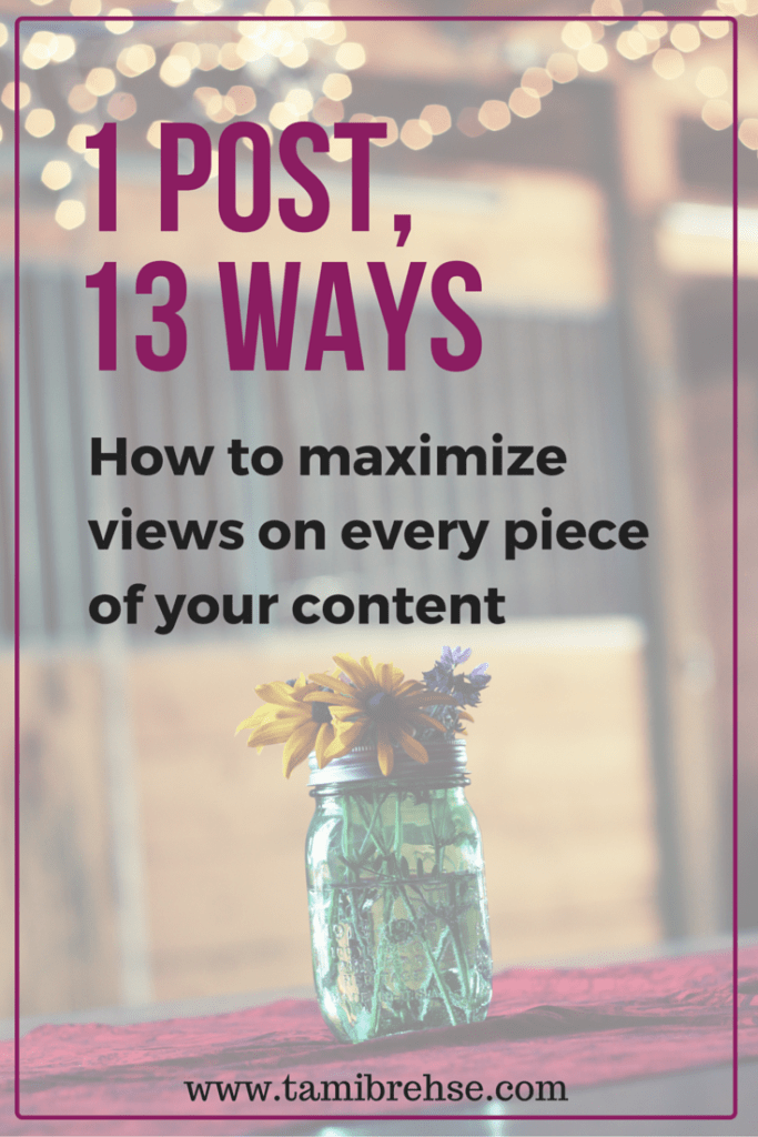 Maximize your views on every single blog post you create by using these 13 marketing outlets.