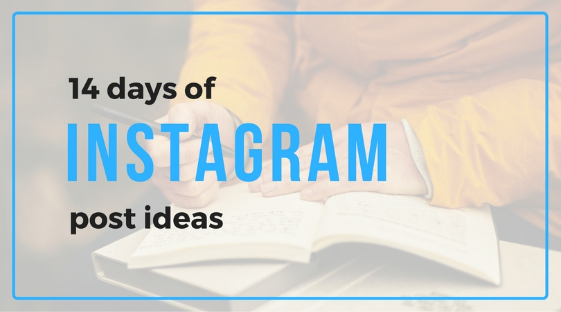 14 Days of Instagram Post Ideas (plus free caption copy to steal!)