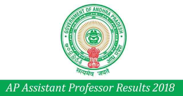 AP Assistant Professor results 2018