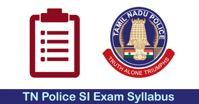 Tamilnadu Police SI Technical Exam Syllabus Download