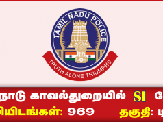 Tamilnadu Police Taluk SI Recruitment 2019