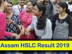Assam SEBA Result 2019