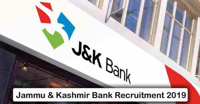 Jammu & Kashmir Bank Recruitment 2019 – Apply 2000+ Fresher job Openings