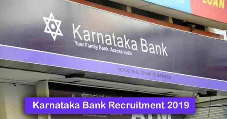 Karnataka Bank Recruitment 2020 – Apply 1000+ Fresher job Openings