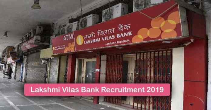 Lakshmi Vilas Bank Recruitment 2019 – Apply 1500+ Fresher job Openings